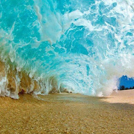 wave by Ricardo Carvalho - Nature Up Close Water ( water, sand, blue, wave, ocean )