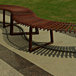 Garden Bench by Prasanta Das - Artistic Objects Furniture ( bench, shadow, artistic, garden )