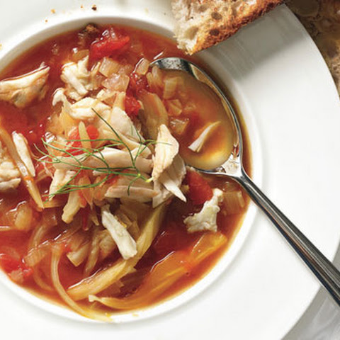 Tomato, Fennel, and Crab Soup
