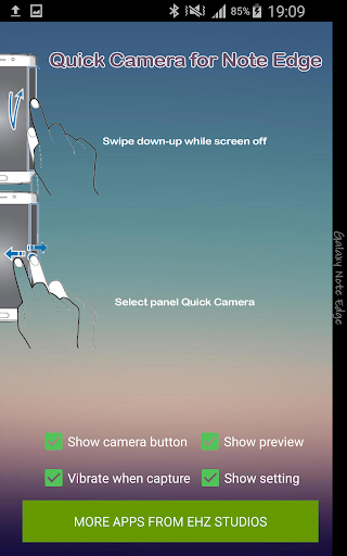 Quick Camera for Note Edge - screenshot