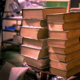 Book Club by Darrell Evans - Artistic Objects Other Objects ( books, old, rot, rotten, mould, table, stack, media, decay )