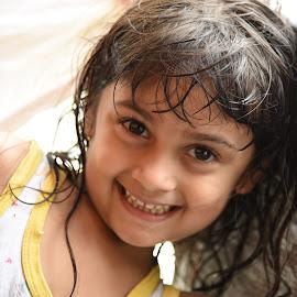 Apple of my eye by Shourjendra Datta - Babies & Children Child Portraits
