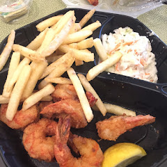 Gf fried shrimp and French fries