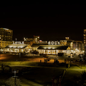 Down Town Little Rock by Patricia Konyha - City,  Street & Park  Skylines