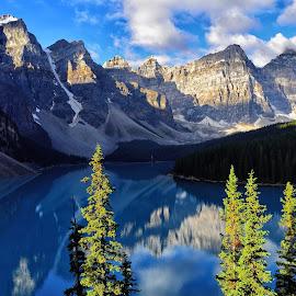 Moraine Lake by Gosha L - Landscapes Travel ( mountain, nature photography, lake, landscapes )
