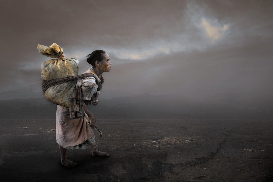 struggle by Doni Setiawan - Digital Art People ( old, women )
