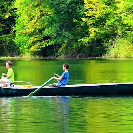 Children on fishing  by Puiu Alexandru - Sports & Fitness Watersports ( water, dinner, nature, chilren, summer, lake, fishing )