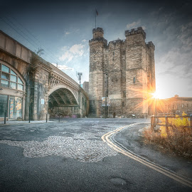 Newcastle's Keep by Adam Lang - Buildings & Architecture Public & Historical ( castle, sunrise, medieval, keep )
