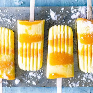Peaches And Cream Ice Lollies