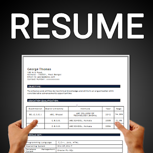 Free resume builder PDF formats CV maker templates for Android
