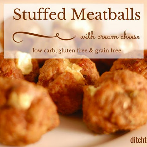 Cream Cheese Stuffed Meatballs