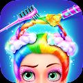Rainbow Hair Salon - Dress Up APK for Bluestacks