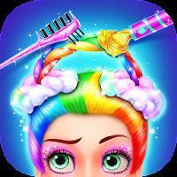 Rainbow Hair Salon - Dress Up For PC (Windows And Mac)