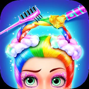 Rainbow Hair Salon - Dress Up For PC
