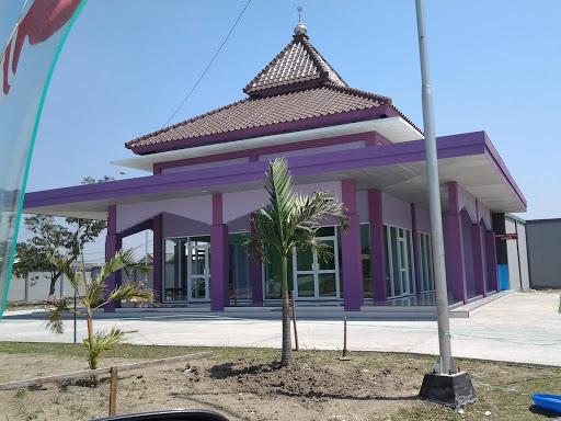 Masjid Ungu Rest Area Tol Gresik Portal In Kedanyang East Java