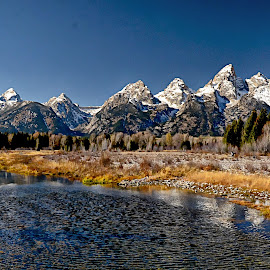 Grand Tetons by Brian Blood - Landscapes Mountains & Hills ( national park, yellowstone, grand, tetons, river,  )