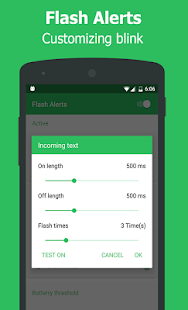 Flash Alerts on Call & Message - screenshot