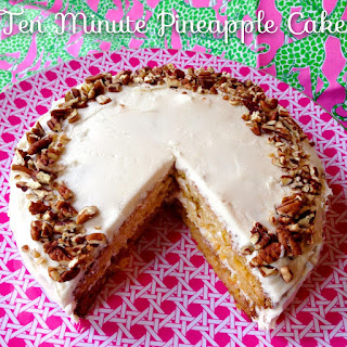 Ten Minute Pineapple Cake