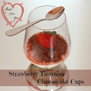 Good-for-You Strawberry Tiramisu Cheesecake Cups for Springtime