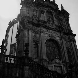 Chuch by Janete Ribeiro - Buildings & Architecture Statues & Monuments ( old, stairs, church, black and white, city )
