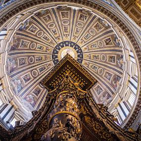 Majestic by Catalin Caciuc - Buildings & Architecture Other Interior ( san, baldachin, dome, fuji, bernini, vatican, x100, pietro )