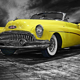 BUICK by JEFFREY LORBER - Transportation Automobiles ( jeffrey lorber, rust 'n chrome, car, yellow car, buick, 1950's, yellow, lorberphoto,  )