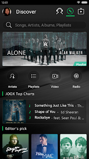APK App JOOX Music - Live Now! for BB, BlackBerry