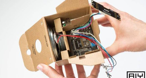 First cardboard goggles, now this: Google's cardboard 'DIY AI' box powered by an RPi 3