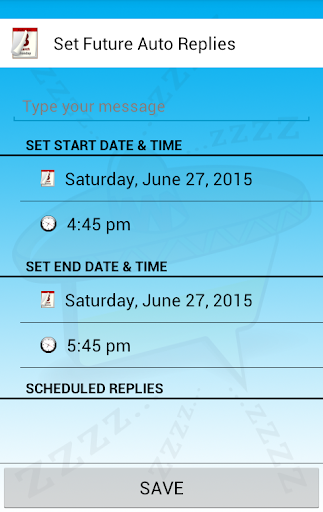Auto Reply - Electronic Siesta - screenshot