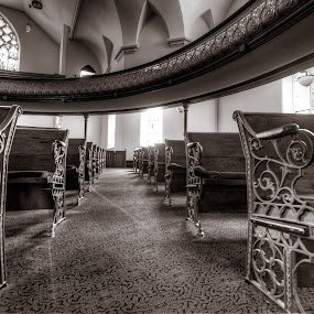 The Pews by Frederic Rivollier - Buildings & Architecture Public & Historical ( religion, church, indoor, presbyterian, pews )