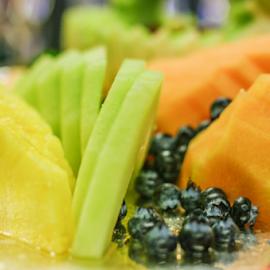 Tropical Fruit by Myra Brizendine Wilson - Food & Drink Fruits & Vegetables ( pineapple, blueberries, food, food photos )