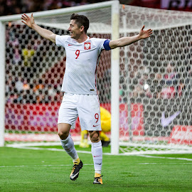 Robert Lewandowski by Paweł Mielko - Sports & Fitness Soccer/Association football ( robert lewandowski, rl9, polska, gol, lewandowski, national association, sports, sport, sport photography, soccer, footbal, polish, poland )