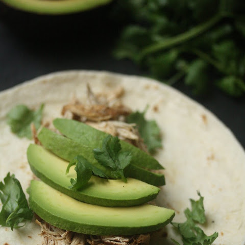 Pulled Chicken Thigh Tacos with Avocado