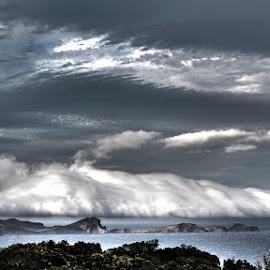 Clouds HDR by Sílvio Silva - Digital Art Places ( clouds, hdr, sea, cloudy, cloudscape, seascape, madeira )