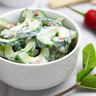 Spicy Yogurt Cucumber Salad