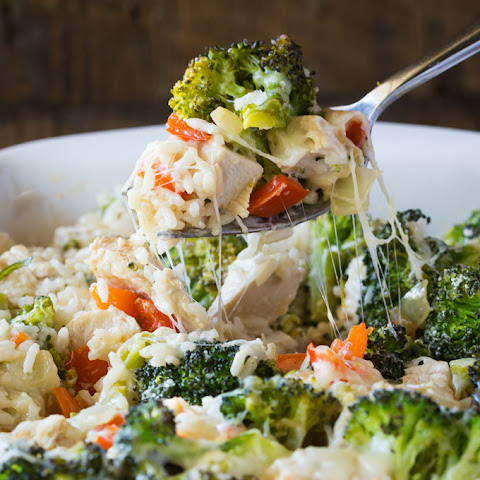 Gluten Free Broccoli Casserole with Chicken, Rice and Cheese