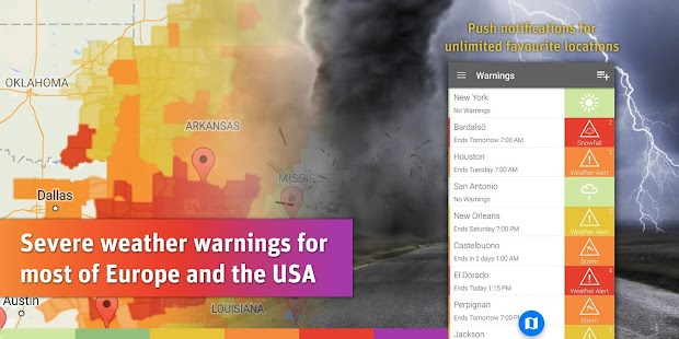 AlertsPro - Severe Weather screenshot for Android