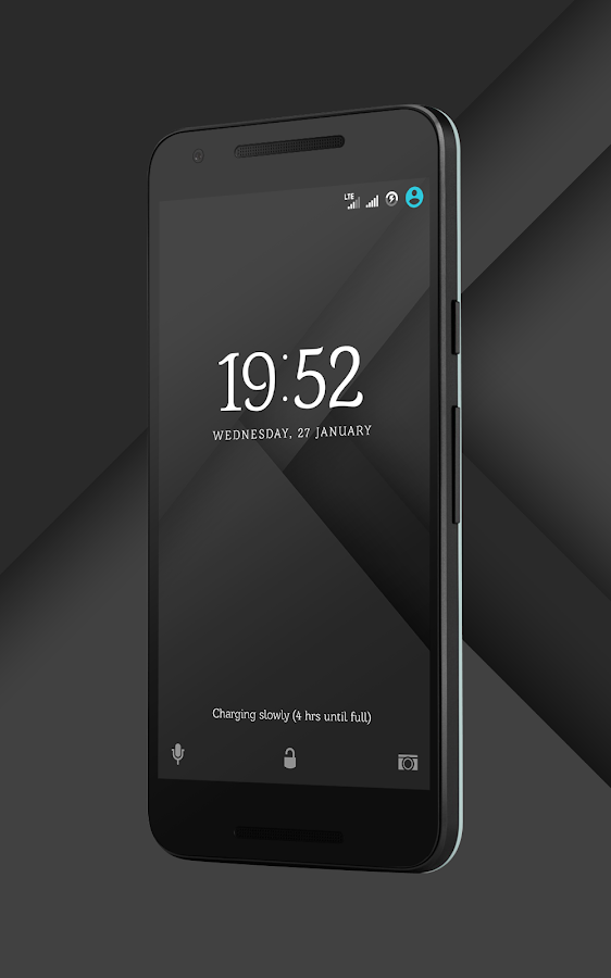 Sense Black/Blue cm13 theme Screenshot 1