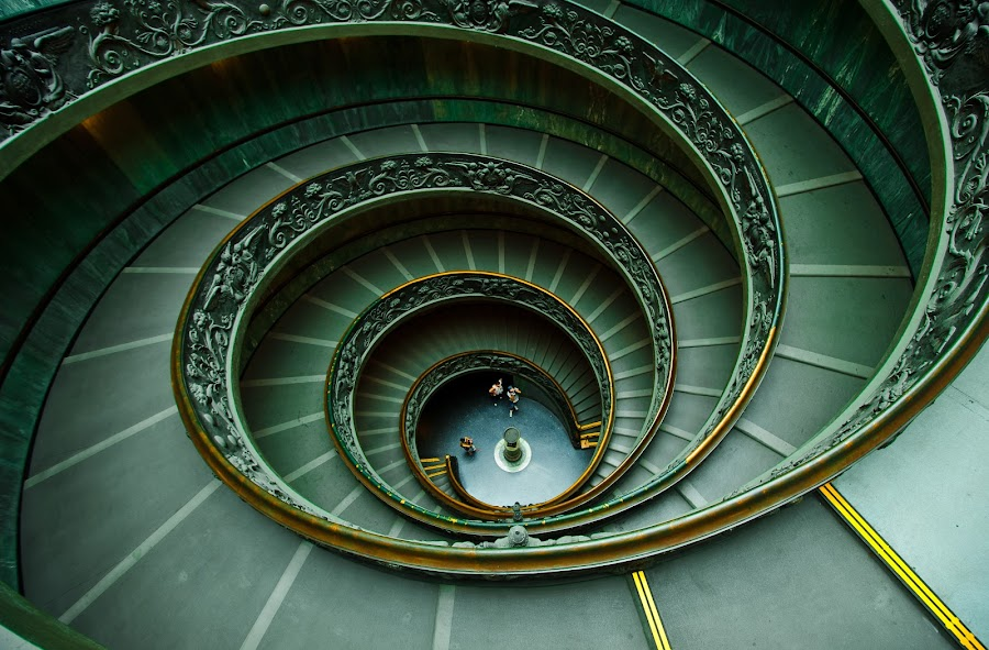 Spiral Stairs by Mauricio Alas - Buildings & Architecture Other Interior ( stairs, alas, spiral, vatican, mauricio )