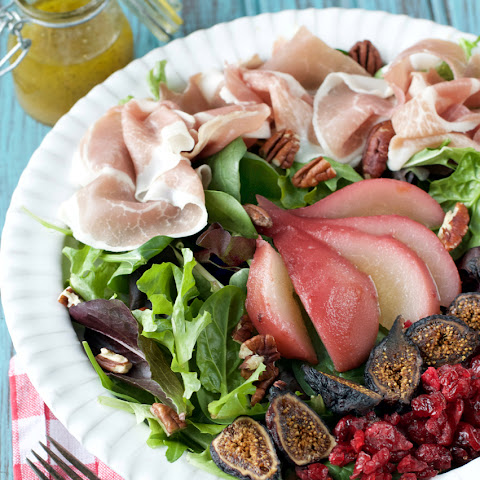 Poached Pear and Prosciutto Salad