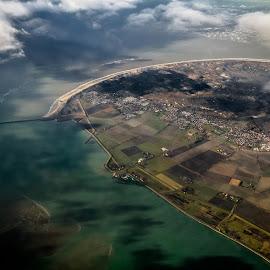 Netherland from sky by Oleksii Liebiediev - City,  Street & Park  Vistas ( plane, waterscape, holland, avia, landscape, netherlands )