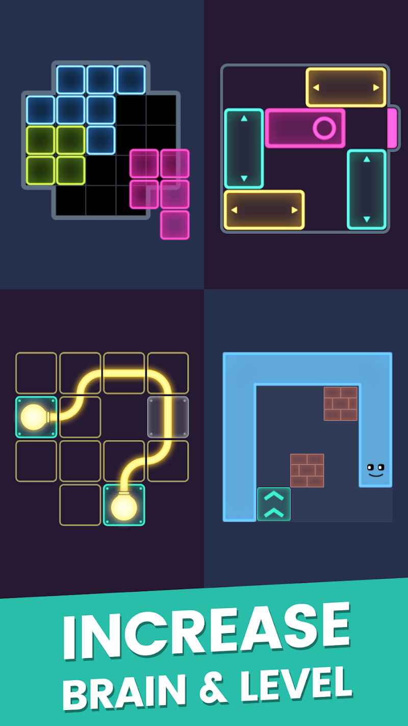Puzzle Glow : Brain Puzzle Game Collection Screenshot 2