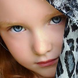 My Hairy Scarf by Cheryl Korotky - Babies & Children Child Portraits