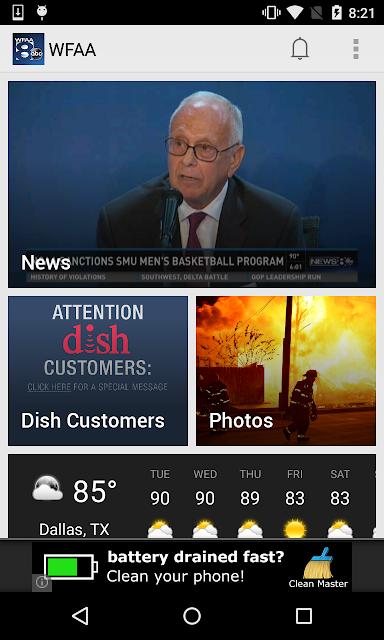 WFAA-North Texas News, Weather screenshots