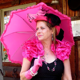 Old West by Linda Doerr - People Fashion ( fashion, portraits of women, western, pink, accessories, wear,  )