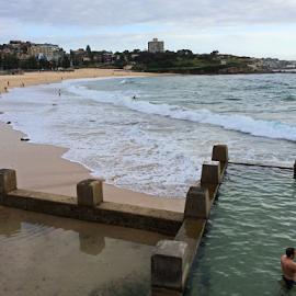 Morning Swim by Kamila Romanowska - Instagram & Mobile iPhone ( australia, ocean, beach, sydney, bronte )