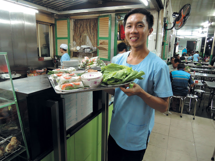 Street Food served on Diethelm Travel's Vespa night tour of Saigon