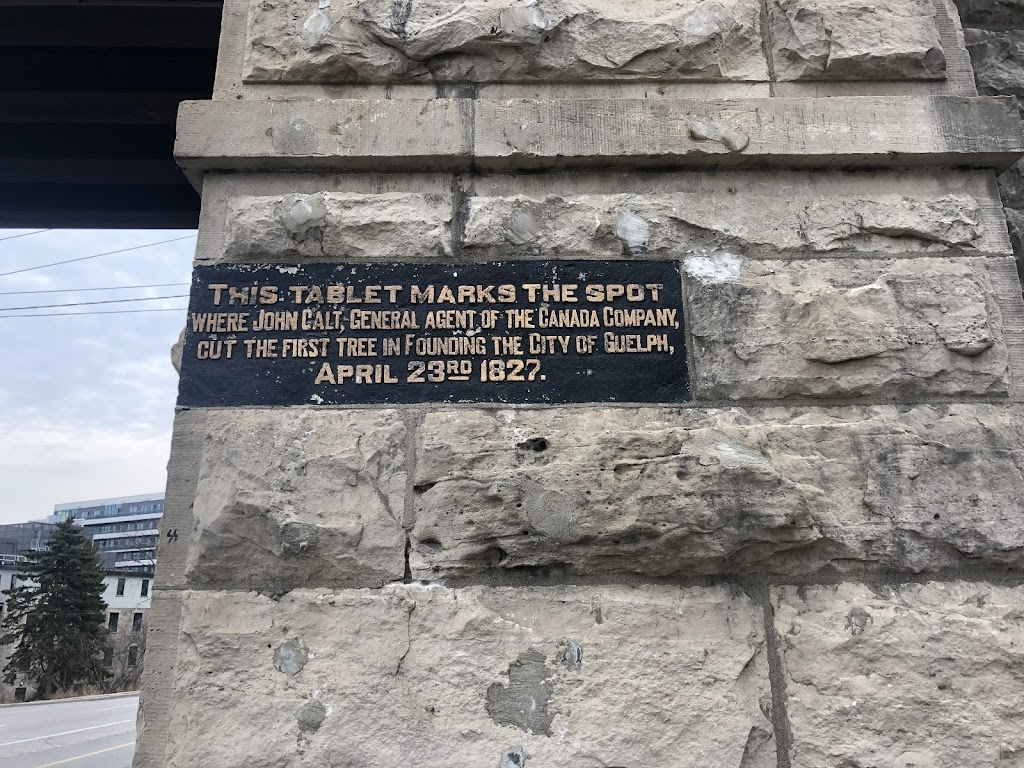 The Tablet marks the spot where John Galt, General Agent of the Canada Company, cut the first tree in founding the city of Guelph, April 23rd 1827Submitted by Paul Mackey