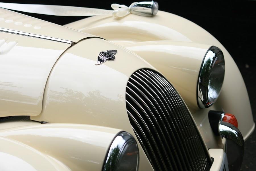 Arriving in style by Rich Malone - Wedding Other ( transport, wedding, ribbon, wedding car, morgan )
