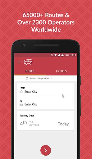 redBus - Online Bus Ticket Booking, Hotel Booking screenshot 1